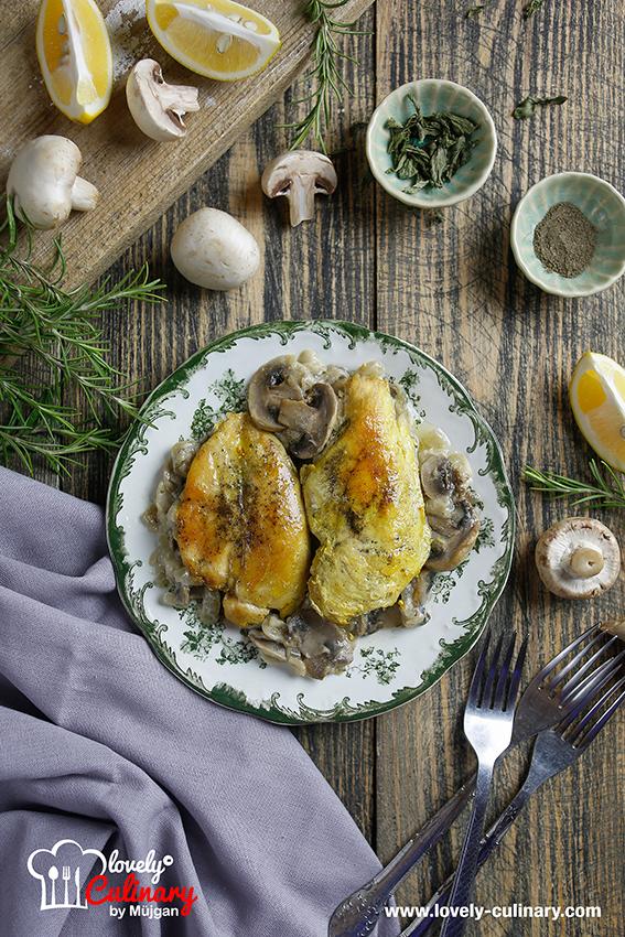 Toyuqlu ve gobelekli yemek resepti