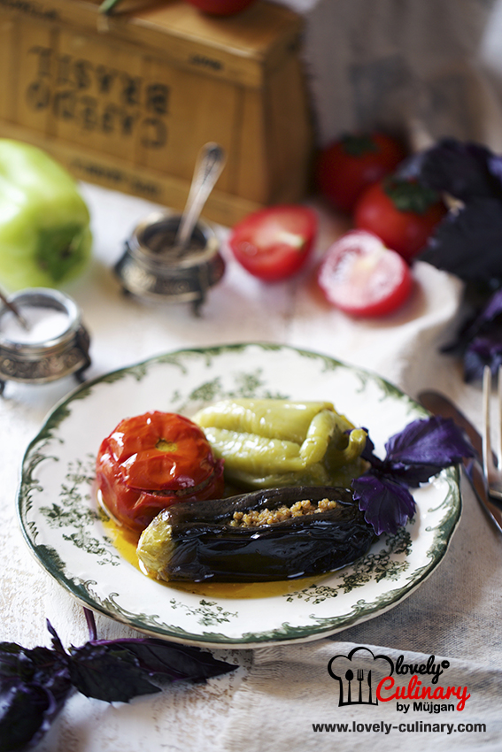 Pomidor biber badimcan dolmasi